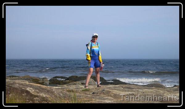 Cindy at Rissers Beach.