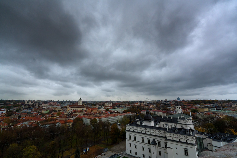 Overlooking Old Town from the Upper Castle. Vilnius, Lithuania. November 2017.