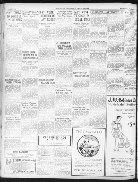Daily Trojan, Vol. 23, No. 119, April 06, 1932