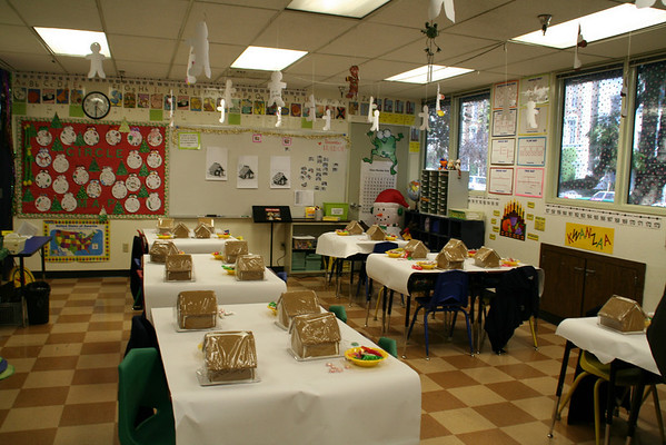 First Grade Gingerbread Houses 2008