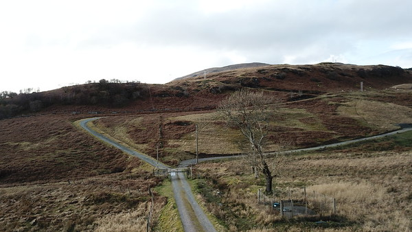 Private road to transmiter behind Craignure
