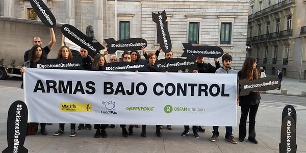 Protesta Armas Bajo Control frente al Congreso