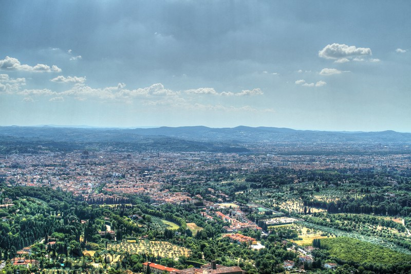 Fiesole, Italy – Tuscany -  Another view of the Tuscany hills and Florence far below.  One thing that I do not like about these trips is my limited time in any one location.  It makes me feel to rushed.  I did take the time to talk with a retired couple from New Zealand before continuing my trek up to the monastery.