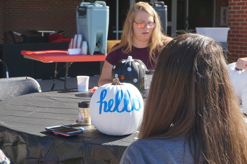 Some people chose to put TV or movie characters on their pumpkins, and others opted for patterns or words.