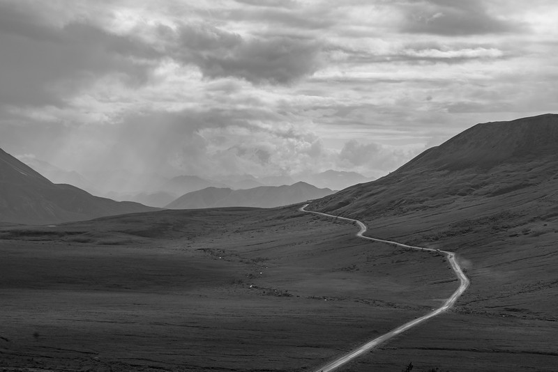 The Lone Road into Denali