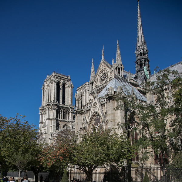 Paris, Notre-Dame Cathedral South Flank
