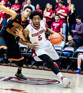 2015 COLLEGE BASKETBALL: USC AT STANFORD