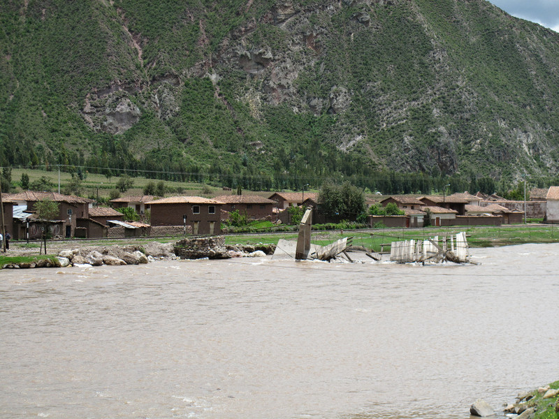 Destroyed Bridge Near Cusco