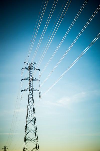 Power line, province of Seville, Spain