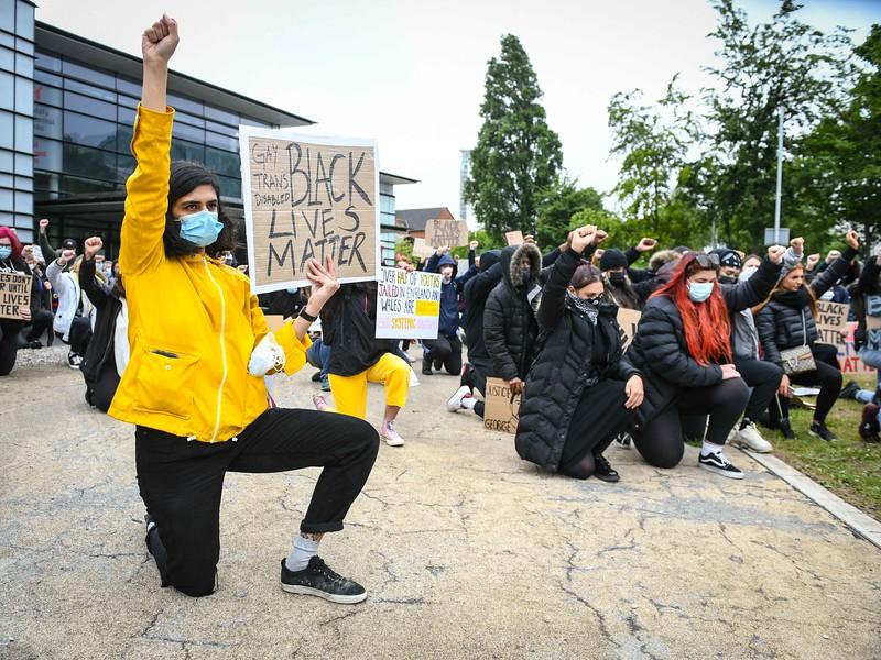 Black Lives Matter protest, Swansea.