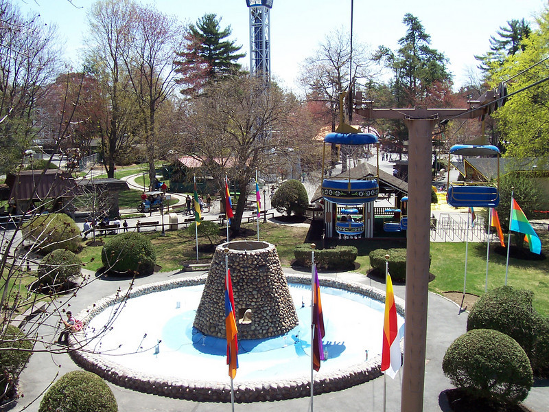 Electric Fountain, as seen from the Sky Ride.