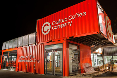 11.2.11 Temporary retail site on Cashel Street. To bring people back to downtown (even though most continue to be condoned off), a couple blocks have been opened up comprised of stores and coffee shops built out of cargo containers (milvans/connexes). Rather ingenious, slick, and done quite nicely.