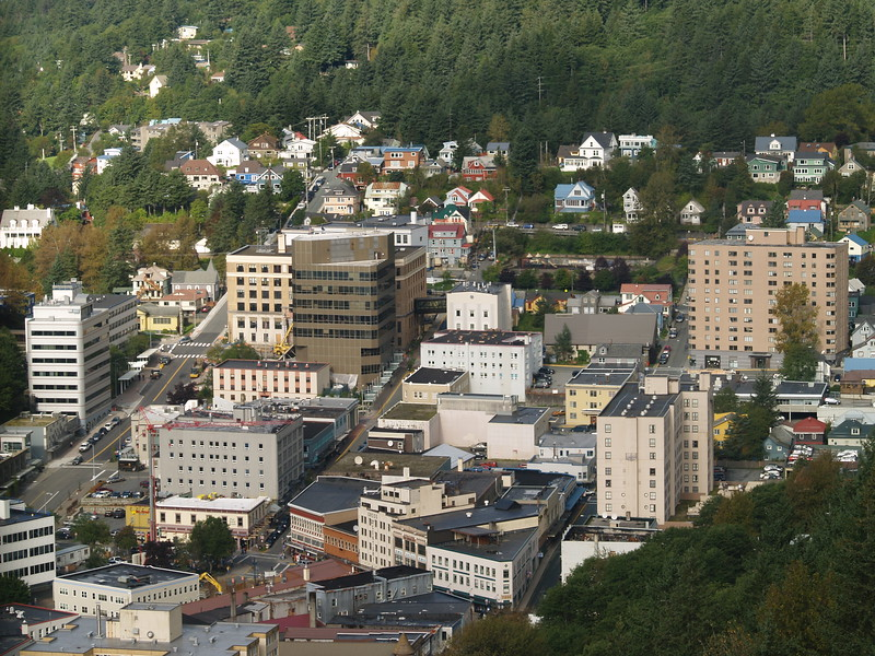 Downtown Juneau from the tram