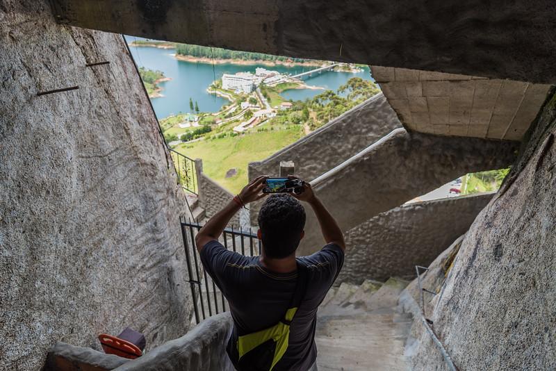 Narrow climbing, with great views