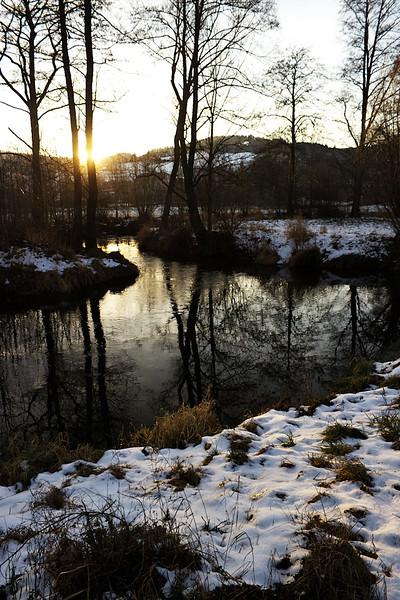 Soutok Svratky a Bílého potoka, taktéž jen pár kroků od penzionu.