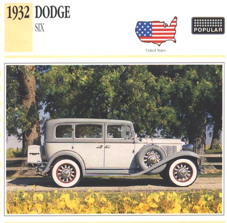 Dad's 1932 Dodge DL, Straight-6, 4-Door Sedan