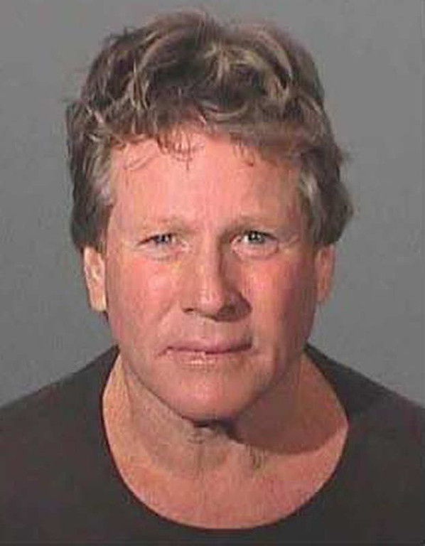 . This booking photo provided by the Los Angeles County Sheriff\'s Department shows Oscar-nominated actor Ryan O\'Neal after he was arrested for assaulting his son, Griffin O\'Neal early Saturday, Feb. 3, 2007.  (AP Photo/Los Angeles County Sheriff\'s Dept., HO)