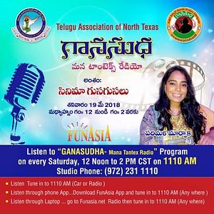 GanaSudha-ManaTantex Radio show - 05/19/2018