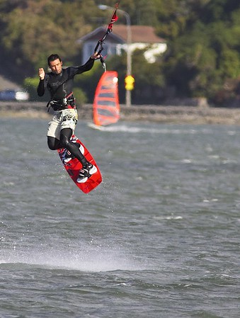 Chch random kiteboarding