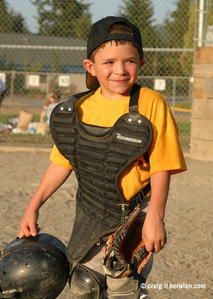Little League catcher