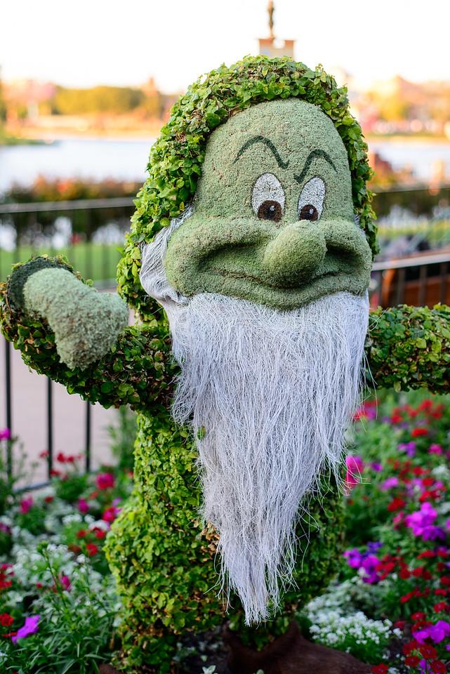 Grumpy Topiary - Epcot Flower & Garden Festival 2016