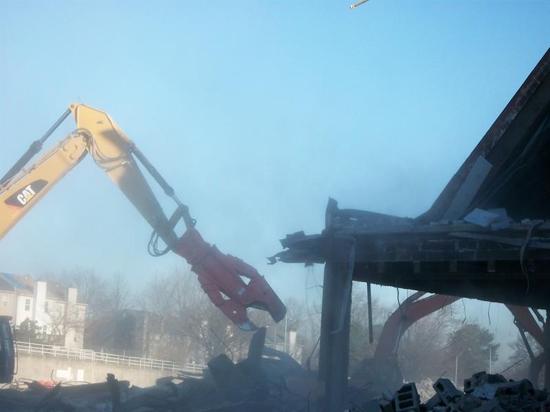 NPK M38K demolition shear on Cat excavator-commercial demolition (4).JPG