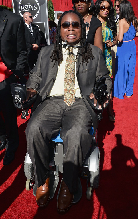 . Former college football player Eric LeGrand attends The 2013 ESPY Awards at Nokia Theatre L.A. Live on July 17, 2013 in Los Angeles, California.  (Photo by Alberto E. Rodriguez/Getty Images for ESPY)