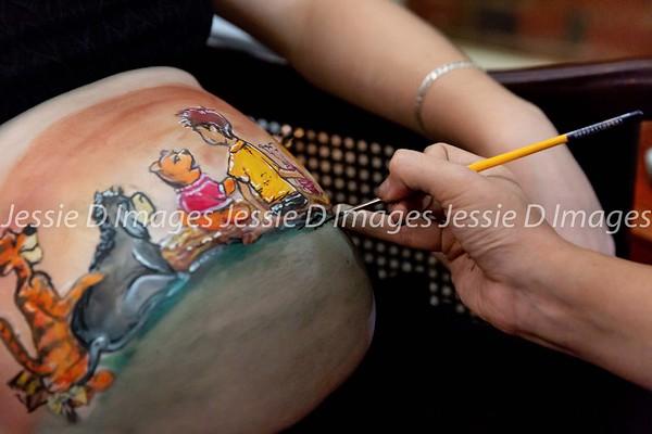 Winnie the Pooh Body Paint