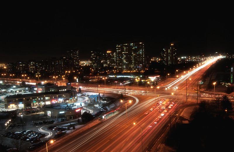 "Bramalea City Centre square on a busy ""Black Friday"" night"