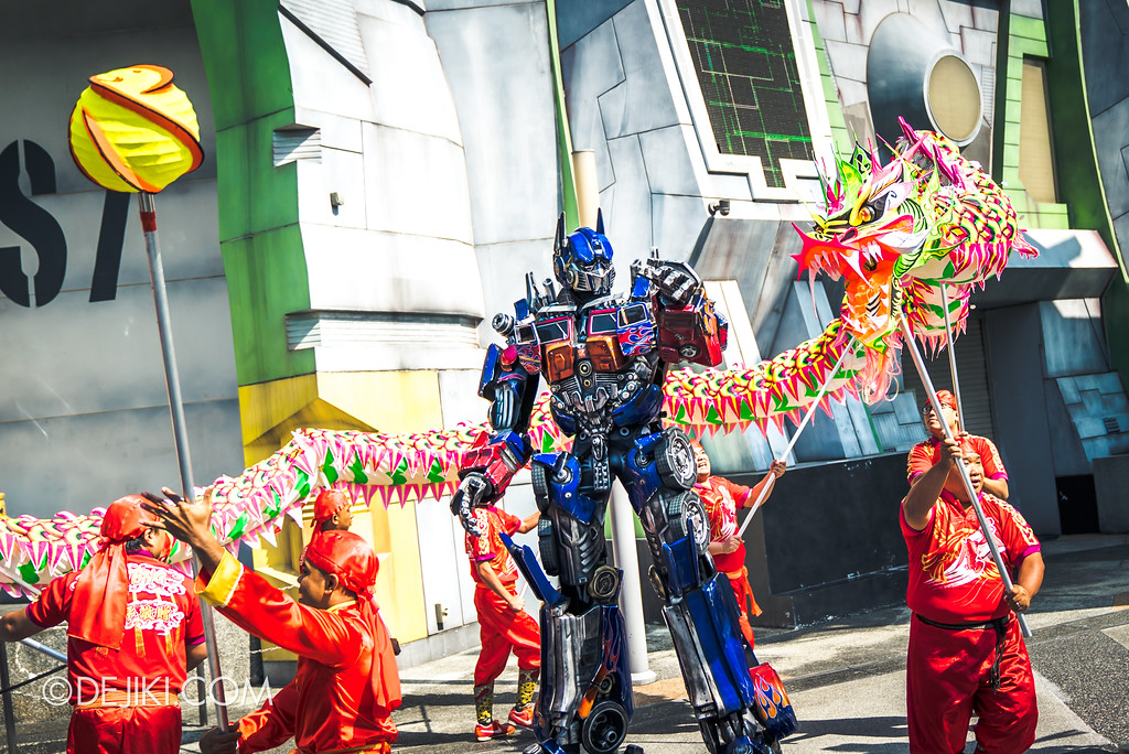 Universal Studios Singapore Park Update February 2018 Chinese New Year - Majestic Dragon Trail / Transformers Autobots Optimus Prime