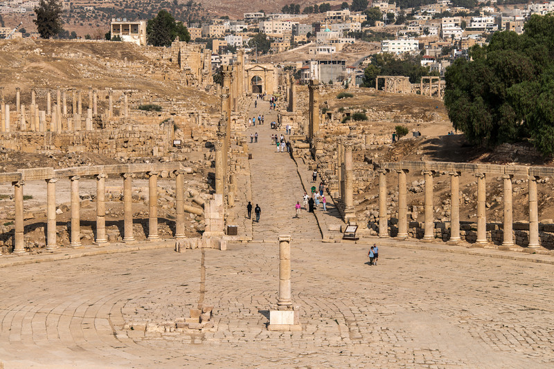 The Forum and Cardo. Jerash, Jordan.