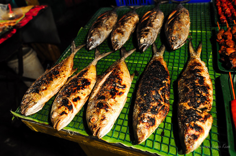 Kota Kinabalu Night Market - grilled fish