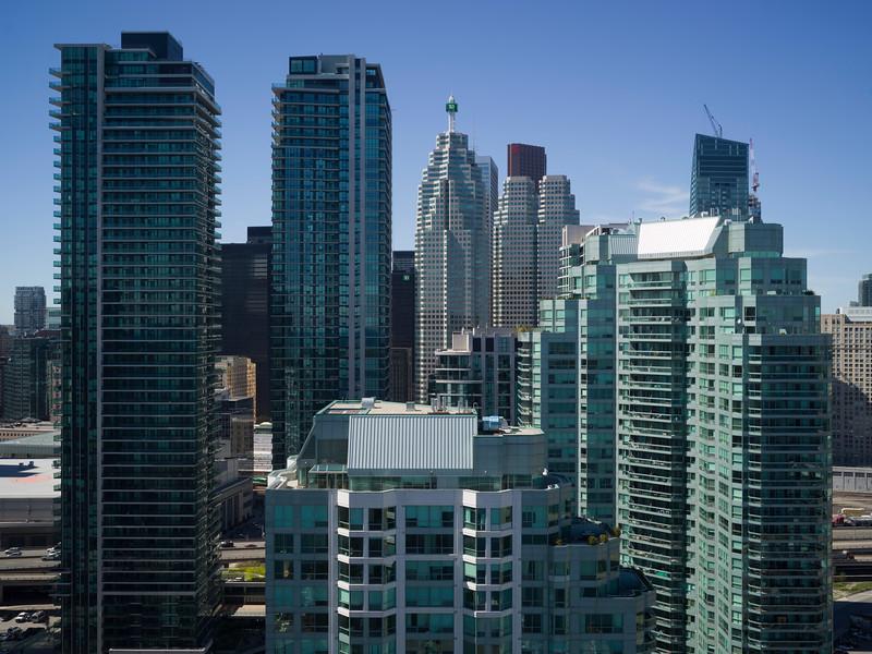 Skyscrapers in a city, Toronto, Ontario, Canada