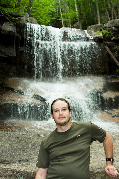 Me at Champney Falls (photo by Abby).