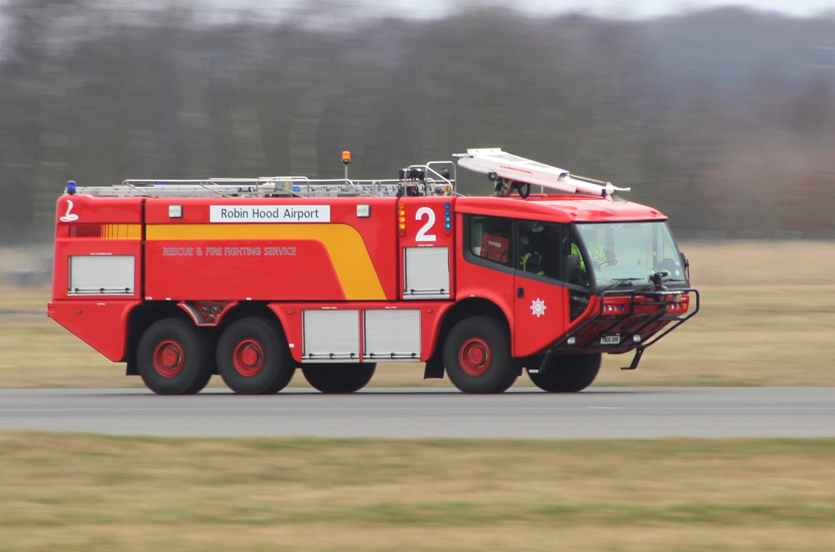 21st Feb............Fire 2 doing a fast ground run.<br /> By Clive Featherstone.