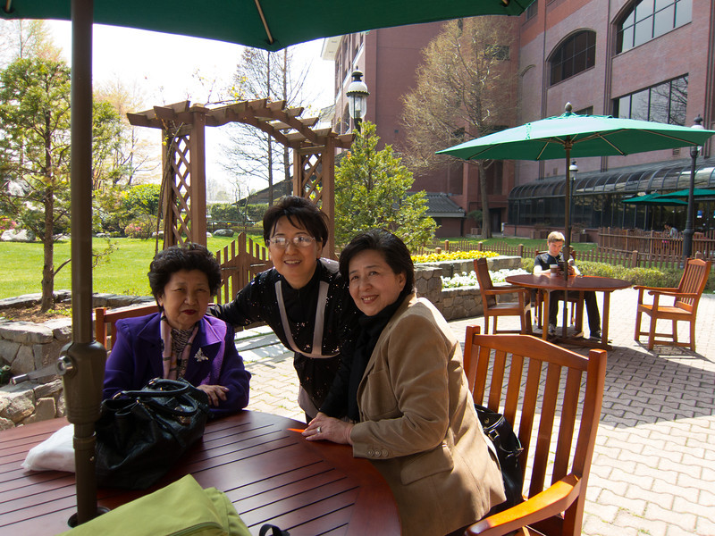 After lunch at Dragon Hill Lodge inside Yongsan Army Garrison in Seoul.