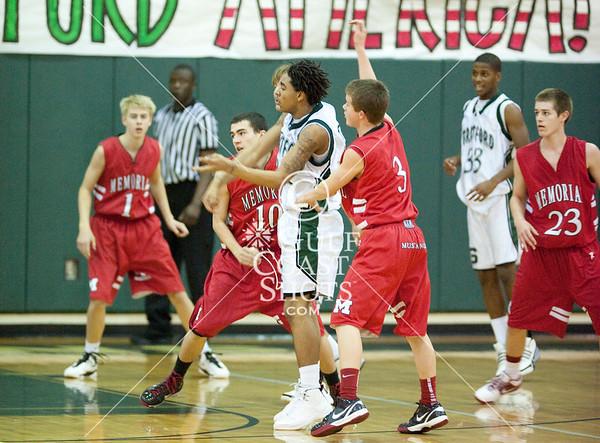 2010-01-29 Basketball JV Boys Memorial at Stratford