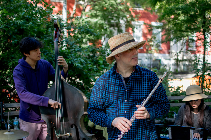 Jazz quartet in Washington Square Park