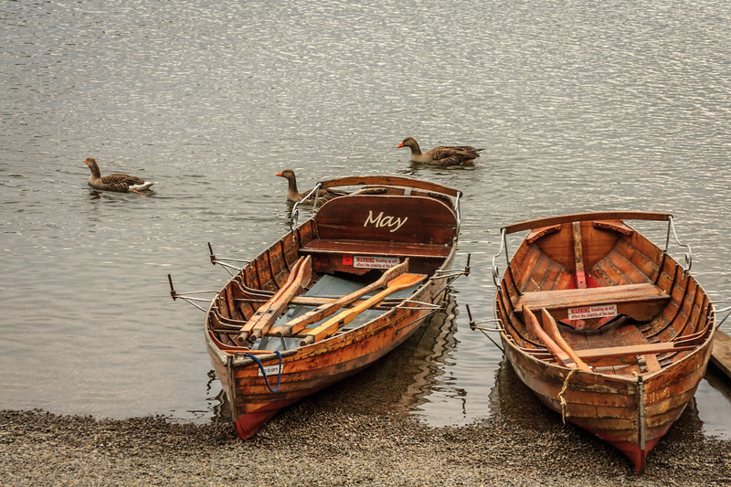 Boats on Derwentwater Lake