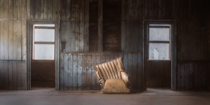 Abandoned School House and a Comfy Chair
