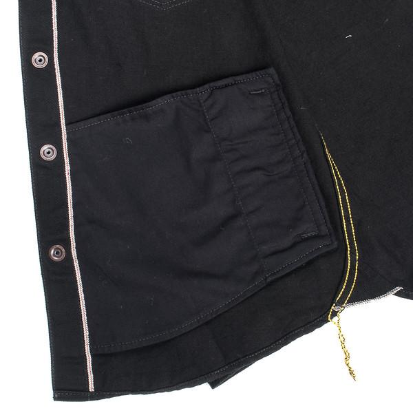 IHSH-166 - Superblack 12oz Selvedge Denim CPO Style Western Shirt-6234.jpg