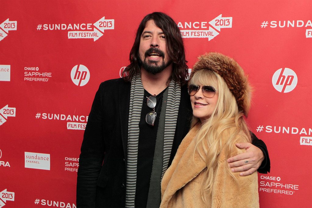 ". Musicians Dave Grohl (L) and Stevie Nicks arrive for the premiere of the documentary ""Sound City\"" at the Sundance Film Festival in Park City, Utah, January 18, 2013. REUTERS/Lucas Jackson"