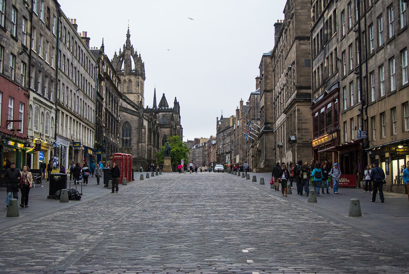 Old town on the Royal Mile