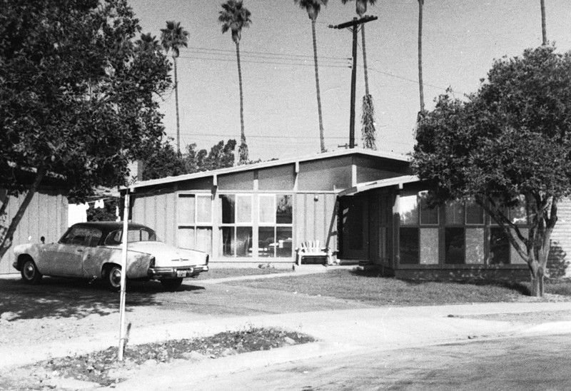Photo #1 ~ Our First House, 111 Level Place, Anaheim CA, Oct 1956