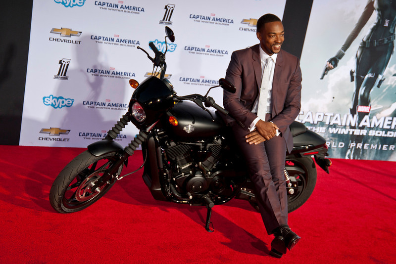 HOLLYWOOD, CA - MARCH 13: Actor Anthony Mackie  arrives at Marvel's 'Captain America: The Winter Soldier' premiere at the El Capitan Theatre onThursday,  March 13, 2014 in Hollywood, California. (Photo by Tom Sorensen/Moovieboy Pictures)