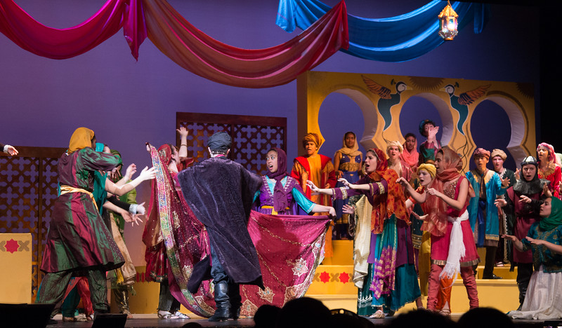 Hajj has escaped! (End of Act I) -- Kismet, Montgomery Blair High School spring musical, April 15, 2016 performance (Silver Spring, MD)