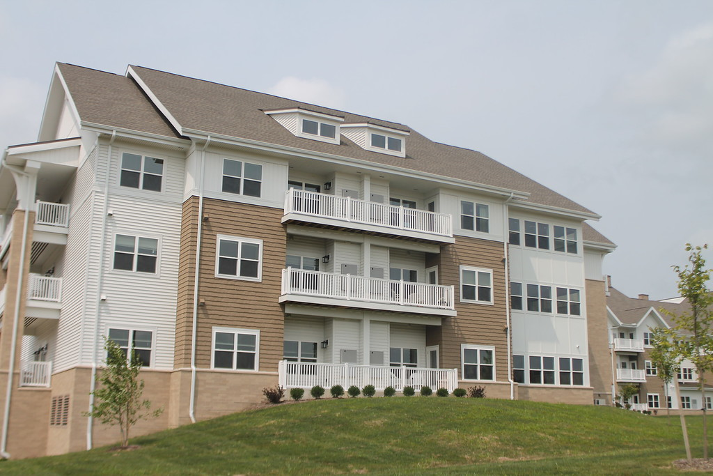 . Exterior view of the apartments at Notre Dame Village. Kristi Garabrandt- The News-Herald