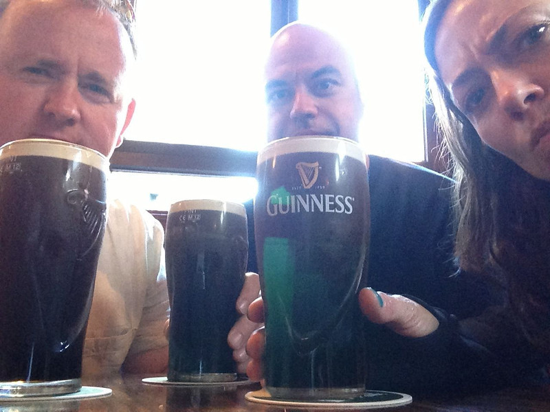First true Guinness in Dublin.   This is serious.