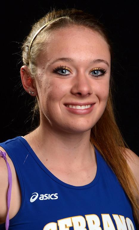 . Melissa Fairchild, of Serrano High School, has been named to the All-Area track team for The Sun. Jenn Maher staff photo The Sun.