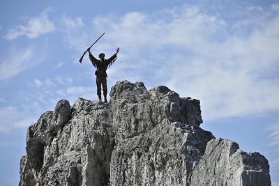 28585 WVU Mountaineer Jonathan Kimble Seneca Rocks October 2012